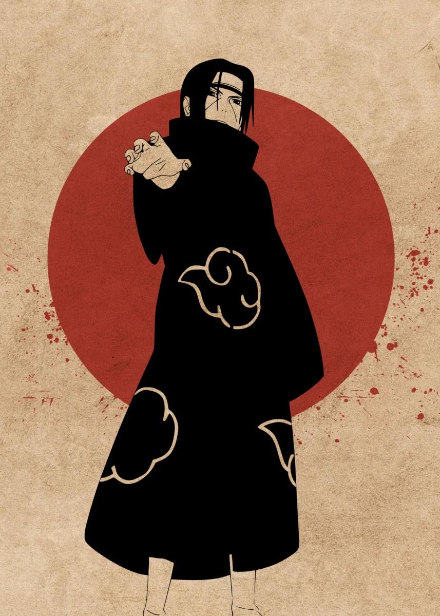 Naruto Itachi Anime Poster