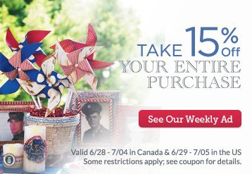 Great value on items and craft ideas for the 4th