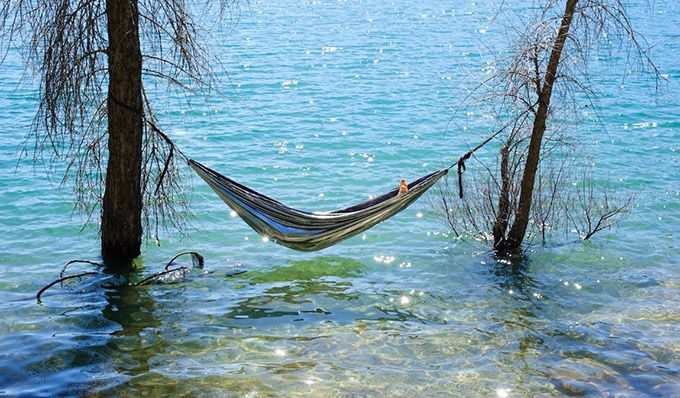 Now that is a place to hang the hammock