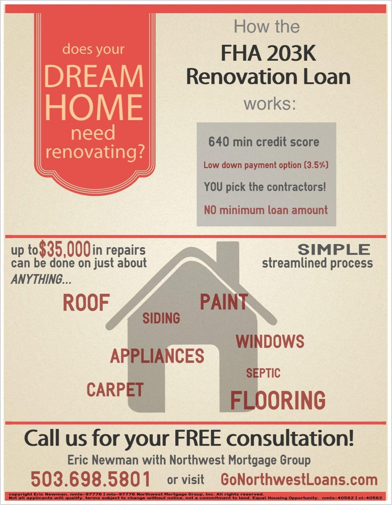 What S An Fha 203k Renovation Loan Renovation Loans Fha Loan