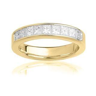 14k yellow gold 1ct tdw certified diamond wedding band g h si3 ring 14k yellow gold 1ct tdw certified diamond publicscrutiny Images