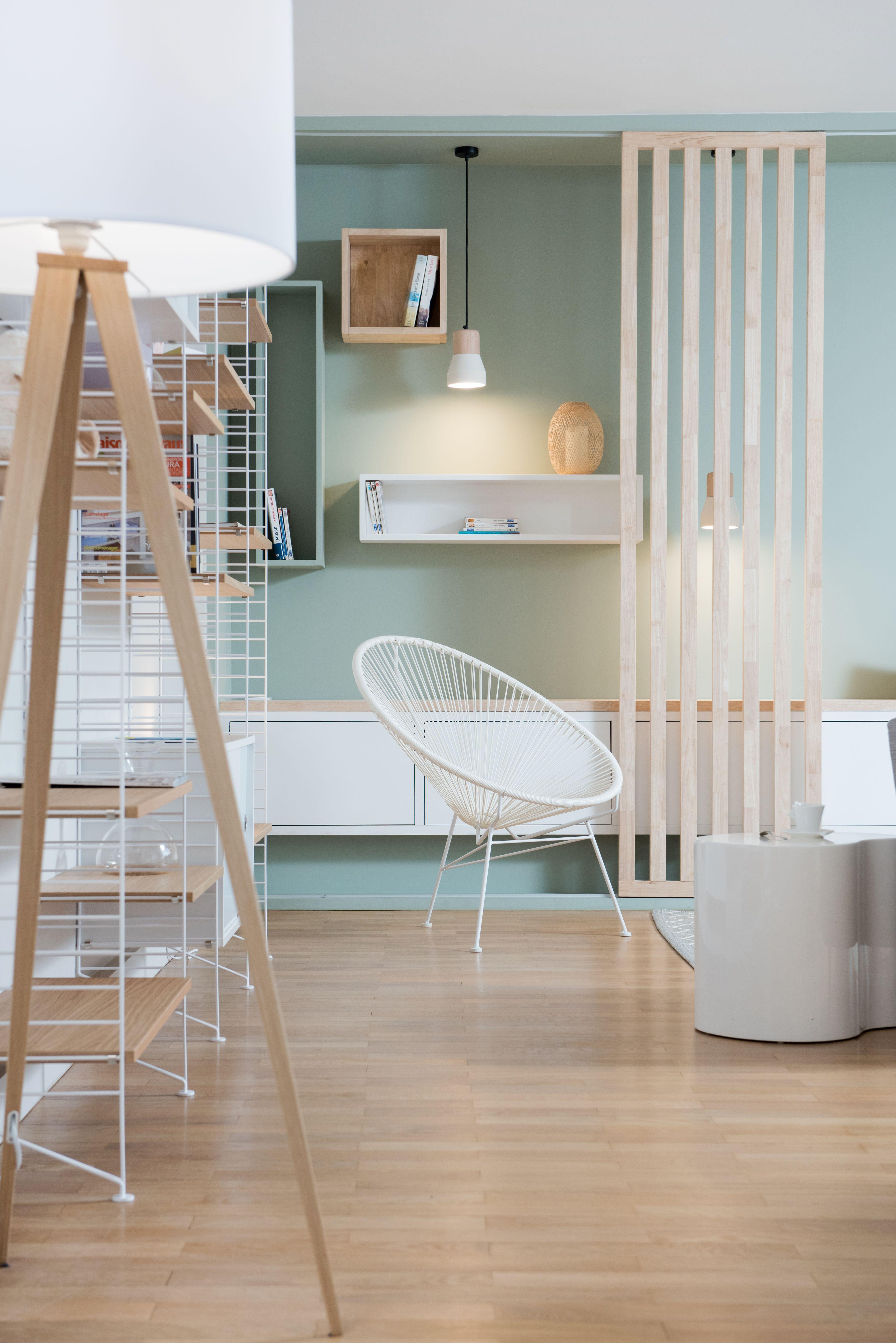 Couleurs pastel et meubles en bois clair cette pi ce for Couleur interieur maison