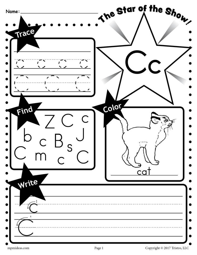 Free Letter C Worksheet Tracing Coloring Writing More Letter G Worksheets Letter Worksheets Kindergarten Letters
