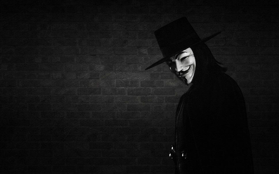 V Vendetta Eine Maske Ein Lacheln Wand Wallpaper V For