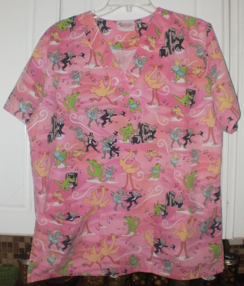 a4c8d1ccceb Ladies Fashion Scrubs Top~Medium~Pink~Alligator Mouse Owl Frog Piano Music  Notes | Clothing, Shoes & Accessories, Uniforms & Work Clothing, Scrubs |  eBay!