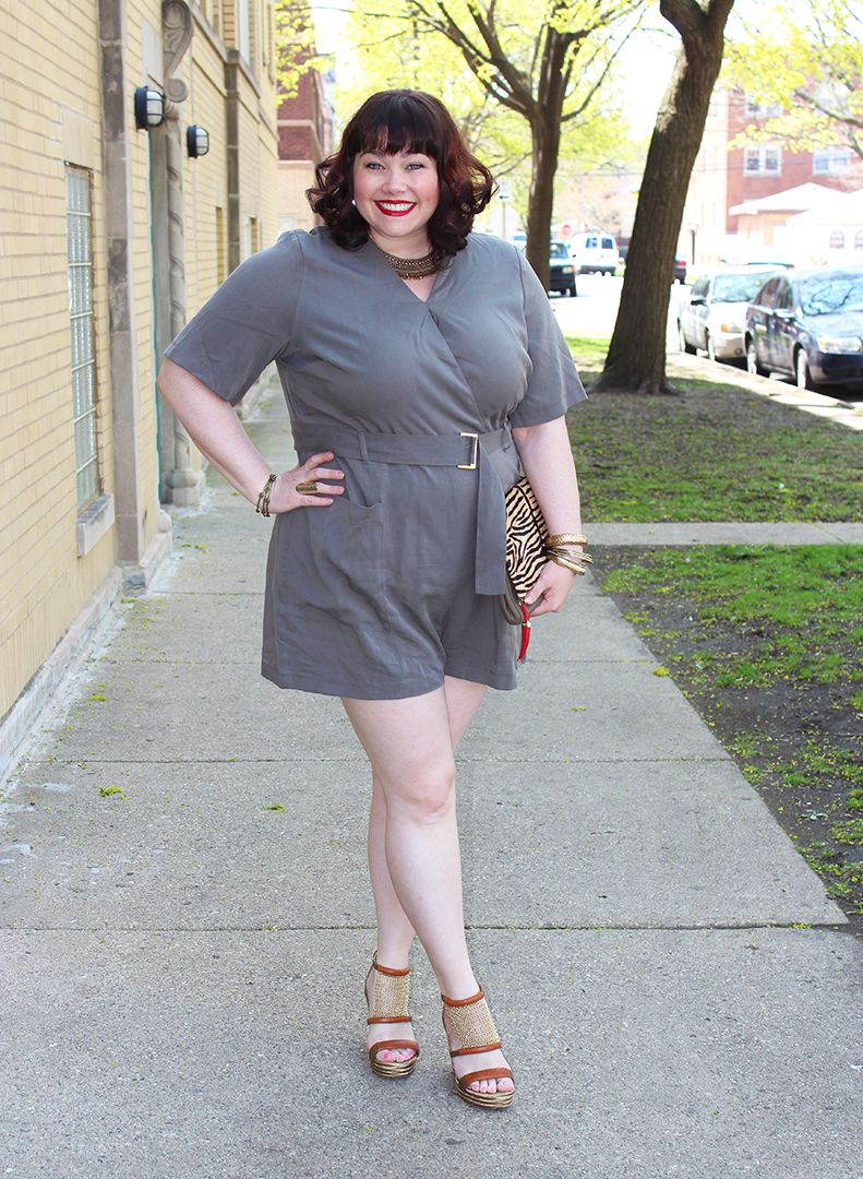 2260b589449 GREAT blog for apple shape style! :) Plus Size Blogger Amber from Style Plus  Curves in a Simply Be plus size romper