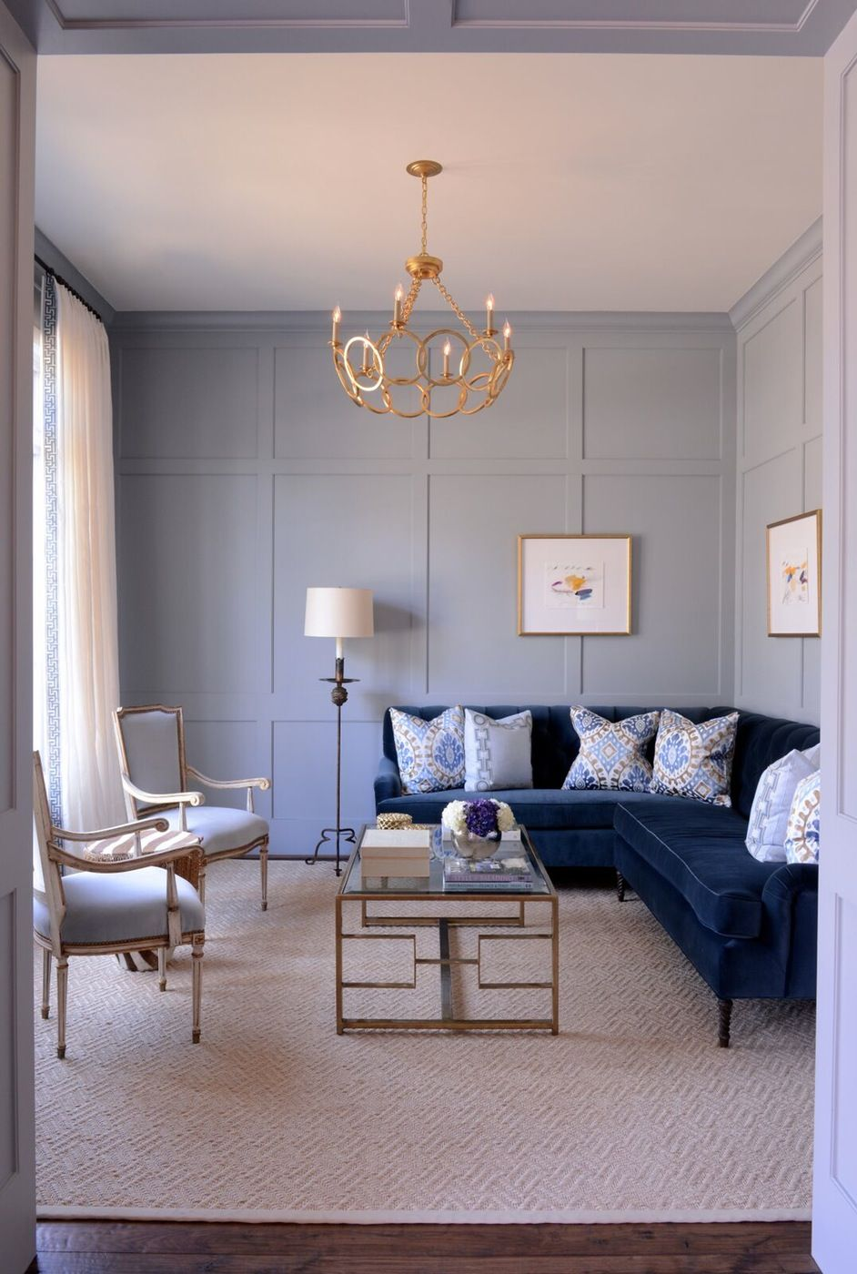 Pin by Dering Hall on Living Rooms  Blue couch living