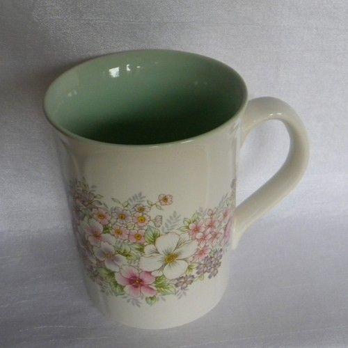 Otagiri Handpainted Mug  Beautiful Flowers Vintage Mug   MugZee - Ceramics & Pottery on ArtFire