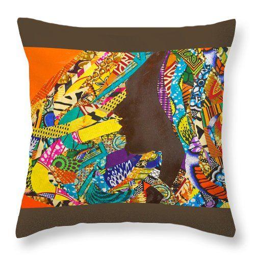 Oya I Decorative Pillow  Artwork by Apanaki Temitayo M  Shop at Apanaki Designs