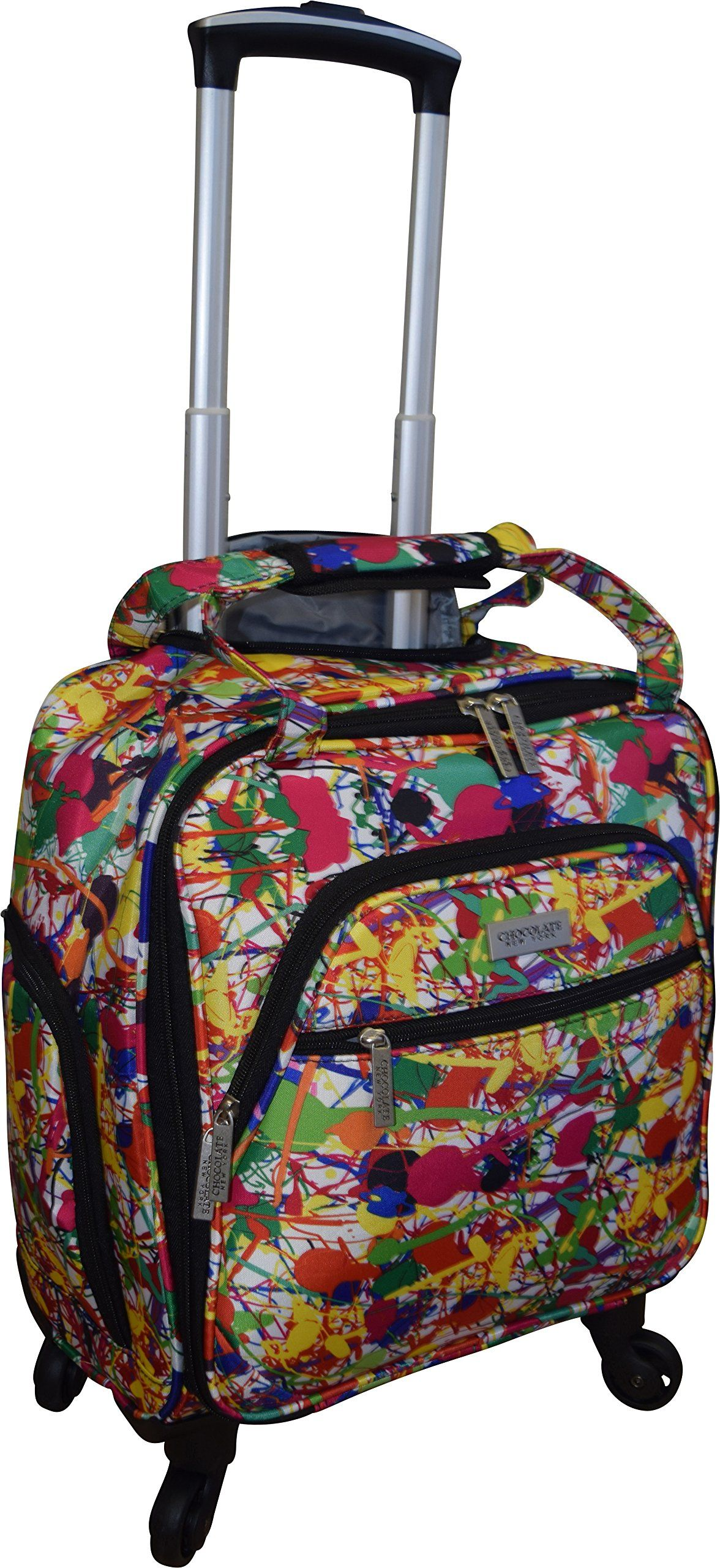 New York Chocolate Travel 18 Inch Carry-On Wheeled Luggage (Flower ...