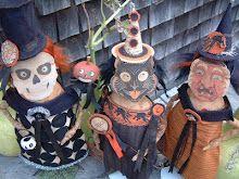 Art dolls by Kaf Grimm of Grimitives.