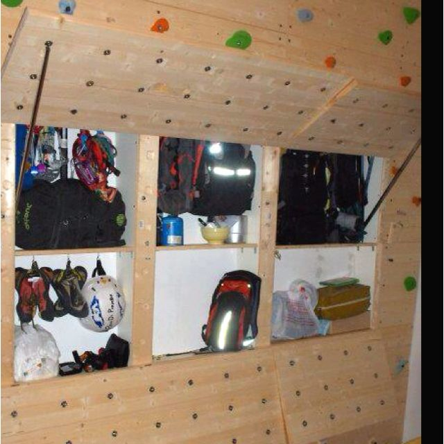 Climbing gear shelf built into bouldering wall can you - What did the wall say to the bookcase ...