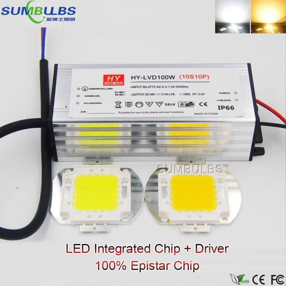 Full Watt Integrated Ac Cob Led Light Bulb 10w 20w 30w 50w 100w