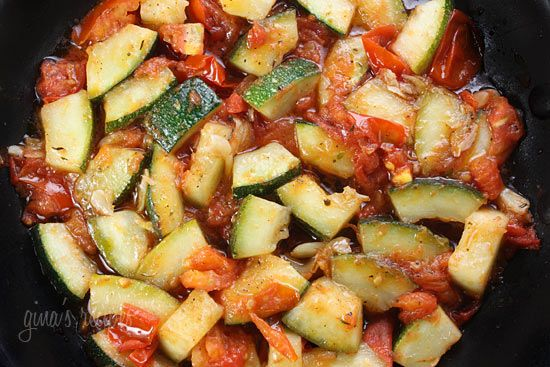 Sauteed Zucchini with Plum Tomatoes