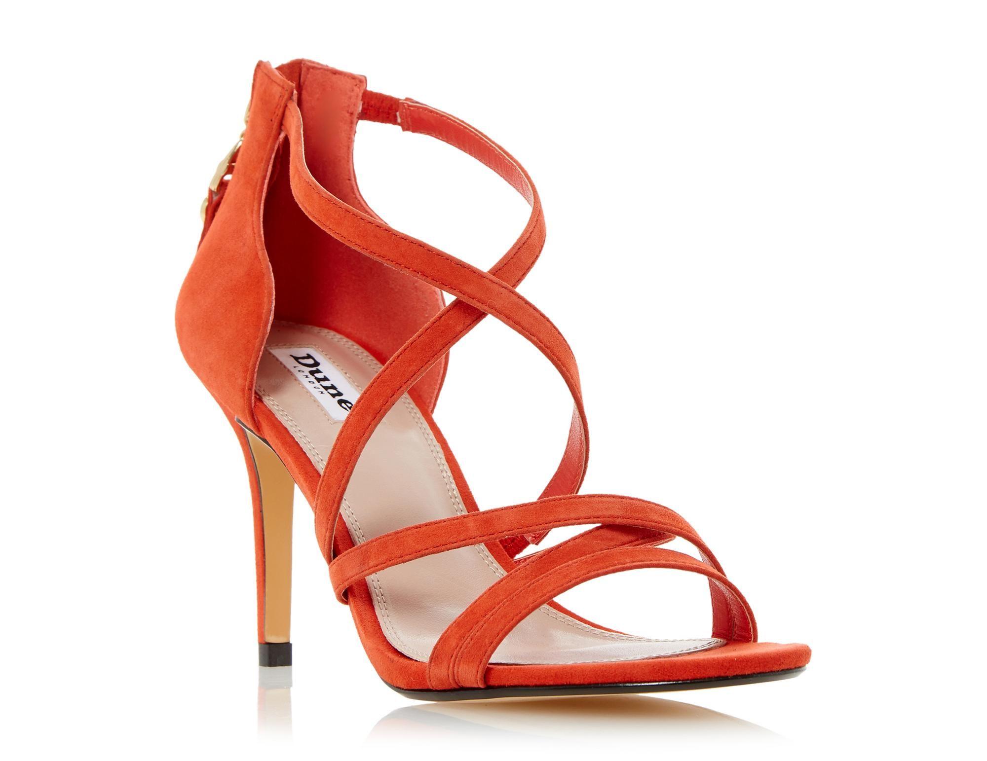 Women's High Block Heel Sandals Fashion Cross Straps Zipper Shoes