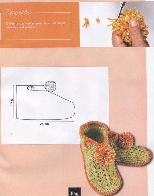 Materiales gráficos Gaby: Pantuflas y poncho   zapatos   Pinterest ...