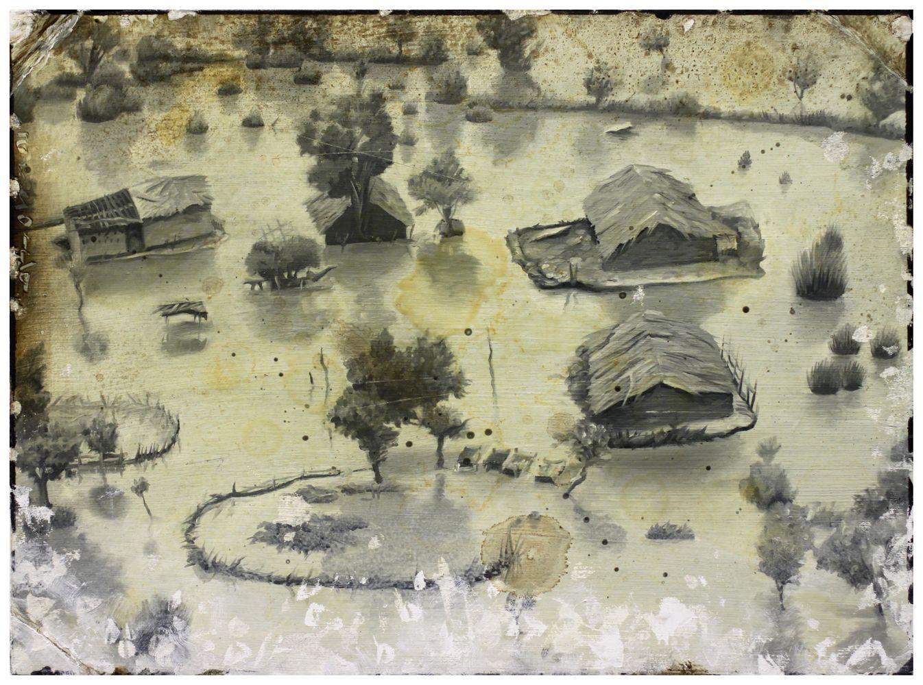 Demiak: Punjab, Pakistan, 2010. 24 x 33 cm. Oil and lacquer on MDF, 2011