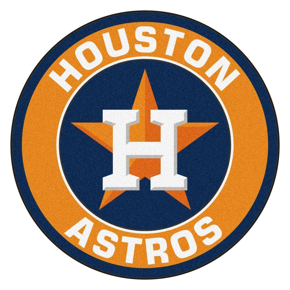 Astros Logo >> Fanmats Mlb Houston Astros Orange 2 Ft X 2 Ft Round Area