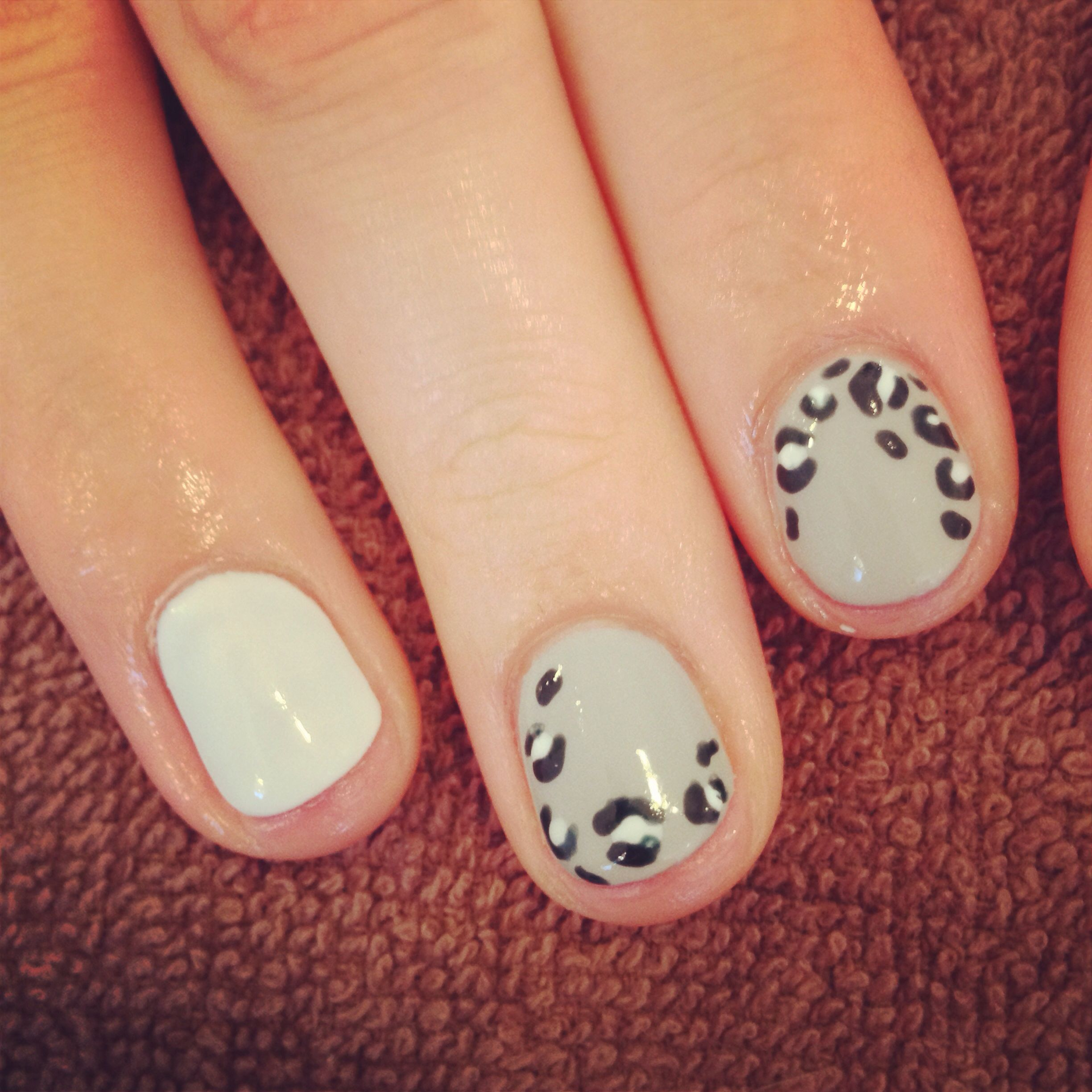 Uñas Decoradas Leopardo Snow Leopard Gelish Nails Gelish Nails Uñas Gelish