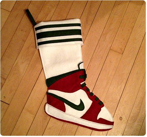 Nike Air Jordan Christmas Stocking Diy Crafted Christmas