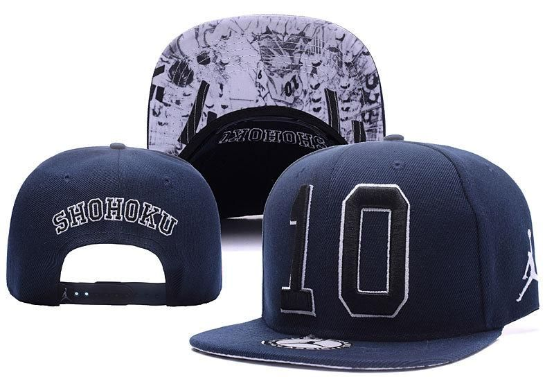 Men s Nike Air Jordan x Slam Dunk Shohoku No 10 Baseball Snapback Hat -  Navy   Black 259289692c9b