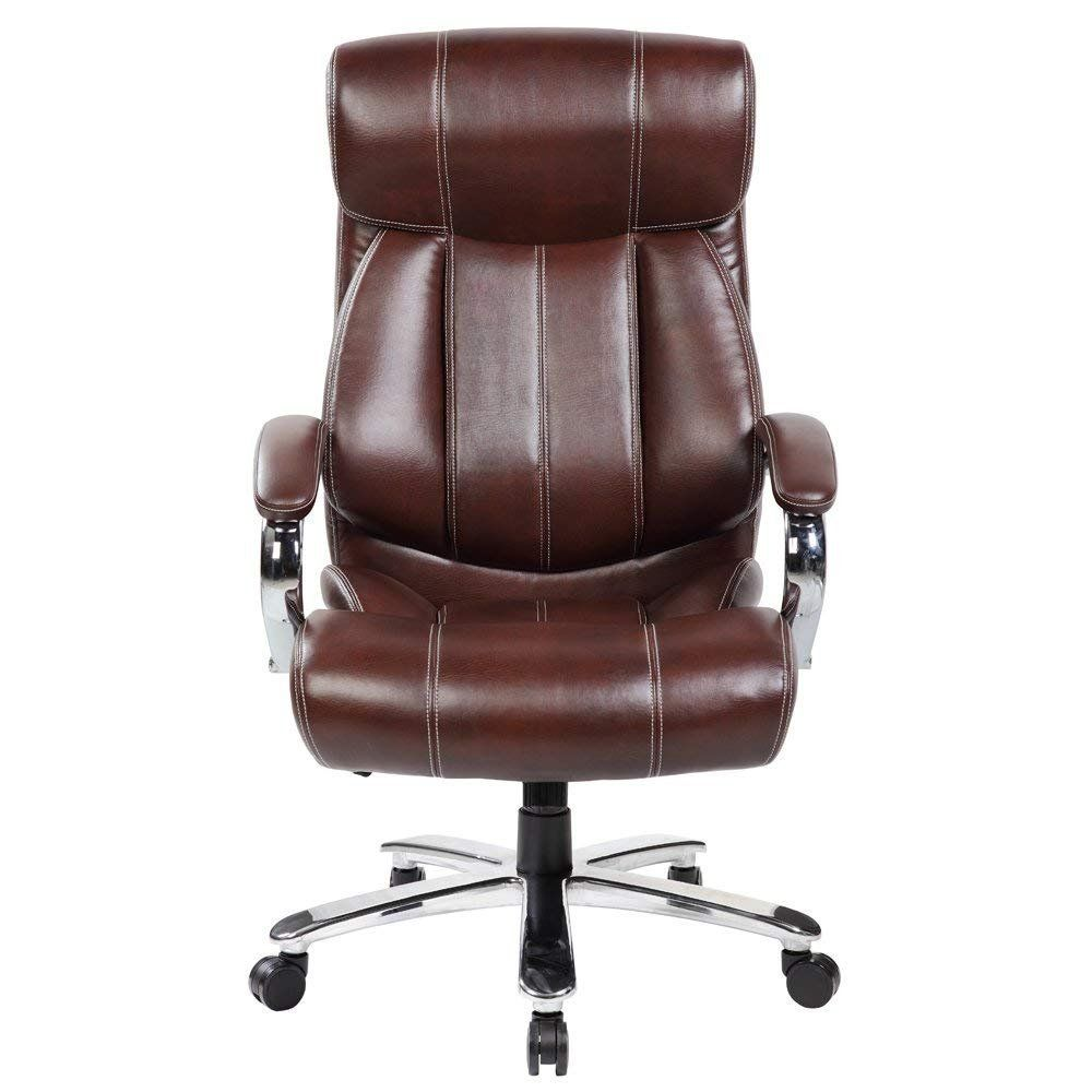 Superb Kerland Ergonomic Leather Executive Office Chair Big And Theyellowbook Wood Chair Design Ideas Theyellowbookinfo