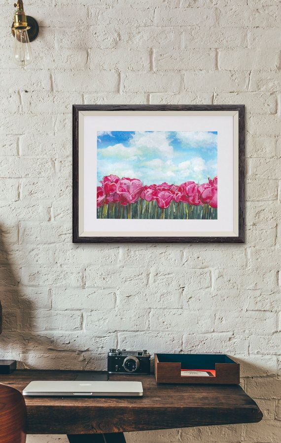 Original Painting Tulip Fields by OffRiverRoad on Etsy
