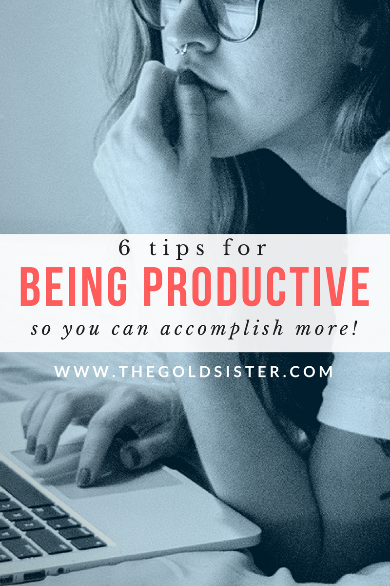 6 tips to help you be more productive so you can start accomplishing more in your life! Click through to read >>