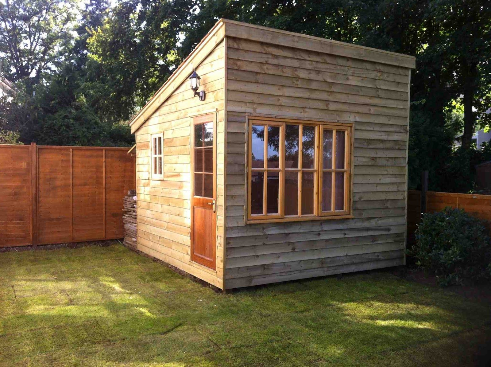 Shedworking building a garden office before and after for Outdoor office building