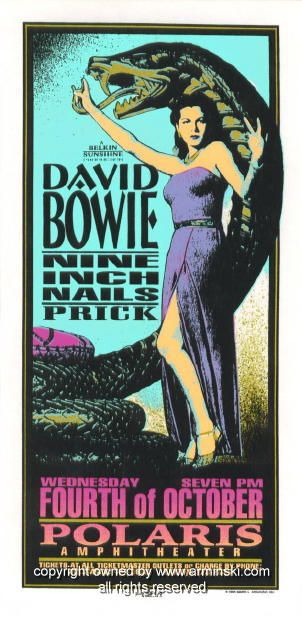 david bowie music gig posters | 1995 David Bowie & Nine Inch Nails Poster by Arminski (MA-051)