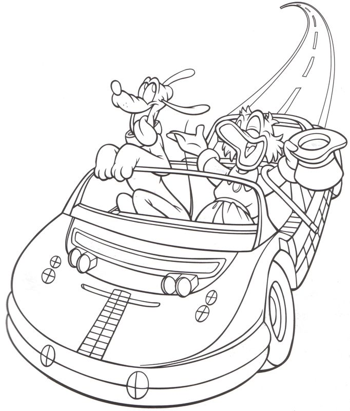 Epcot - Test Track - Uncle Scrooge McDuck & Pluto | Color me ...