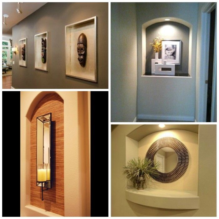 Wall Cut Out With Lighting Alcove Decor Niche Art Ideas