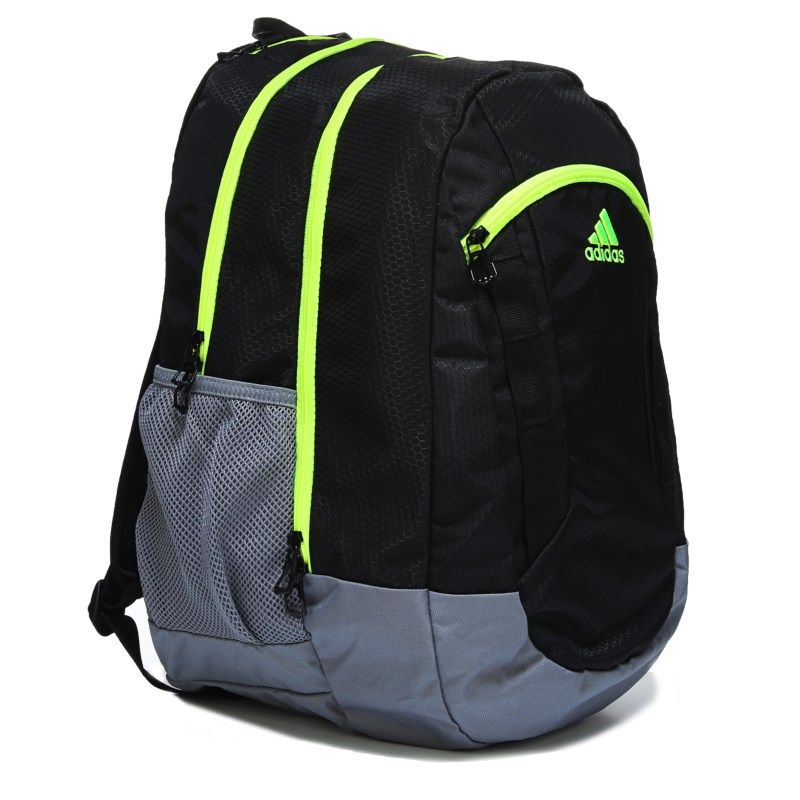 Kids adidas Excel II Laptop Backpack BlackGreyYellow