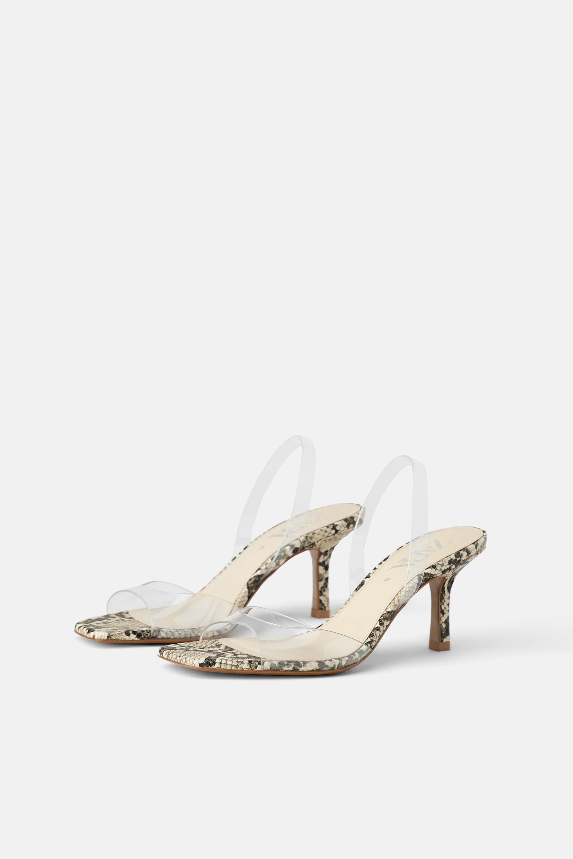 3fbfb059ba VINYL AND ANIMAL PRINT HEELED SANDALS Women's Shoes Sandals, Heeled Sandals,  Zara Women,