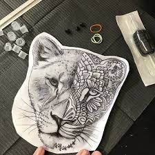 Photo of Image result for lioness mandala tattoo