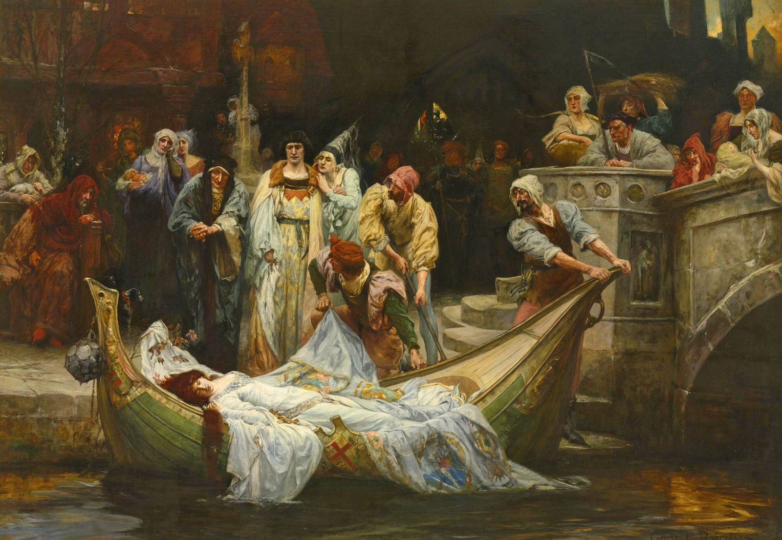 George Edward Robertson British 1864 The Lady Of Shalott 1900