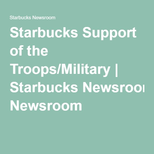 starbucks not supporting troops