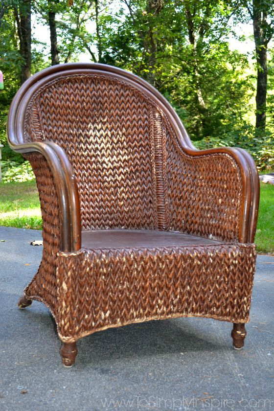 How To Paint Wicker Furniture With a Brush   Chair Makeover   Chairs     How to Paint Wicker Furniture with a Brush1