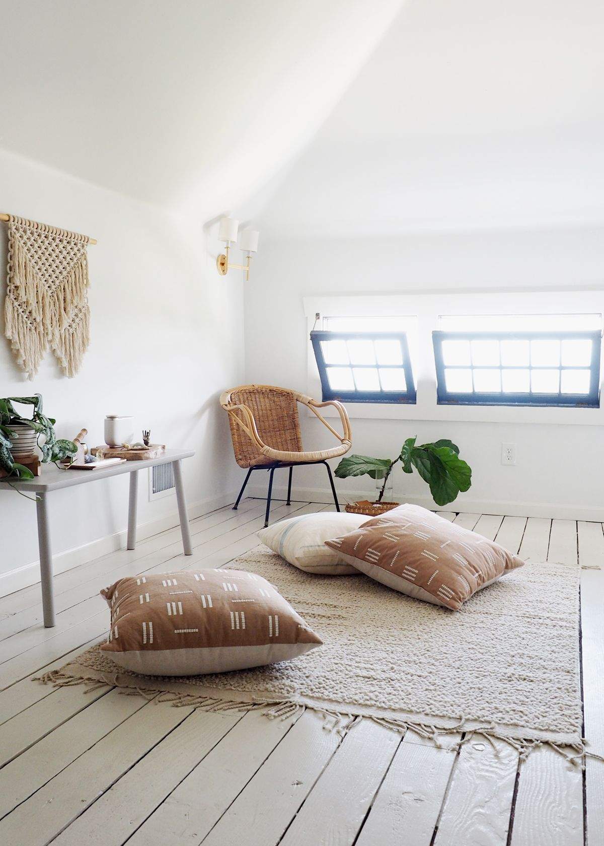 How To Style A Calm Minimal Meditation Space Coco Kelley Meditation Space Meditation Rooms Zen Meditation Space Meditation room decor meditation