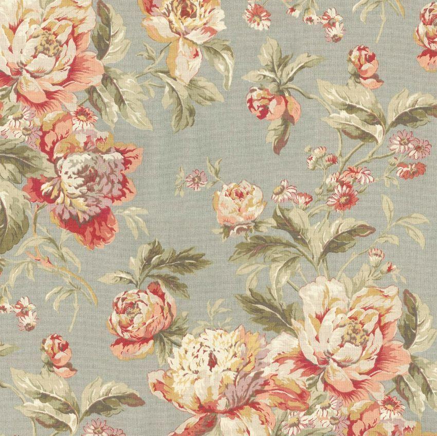 6710712 Waverly Fleuretta Swa Slate 680381 Floral Print Upholstery