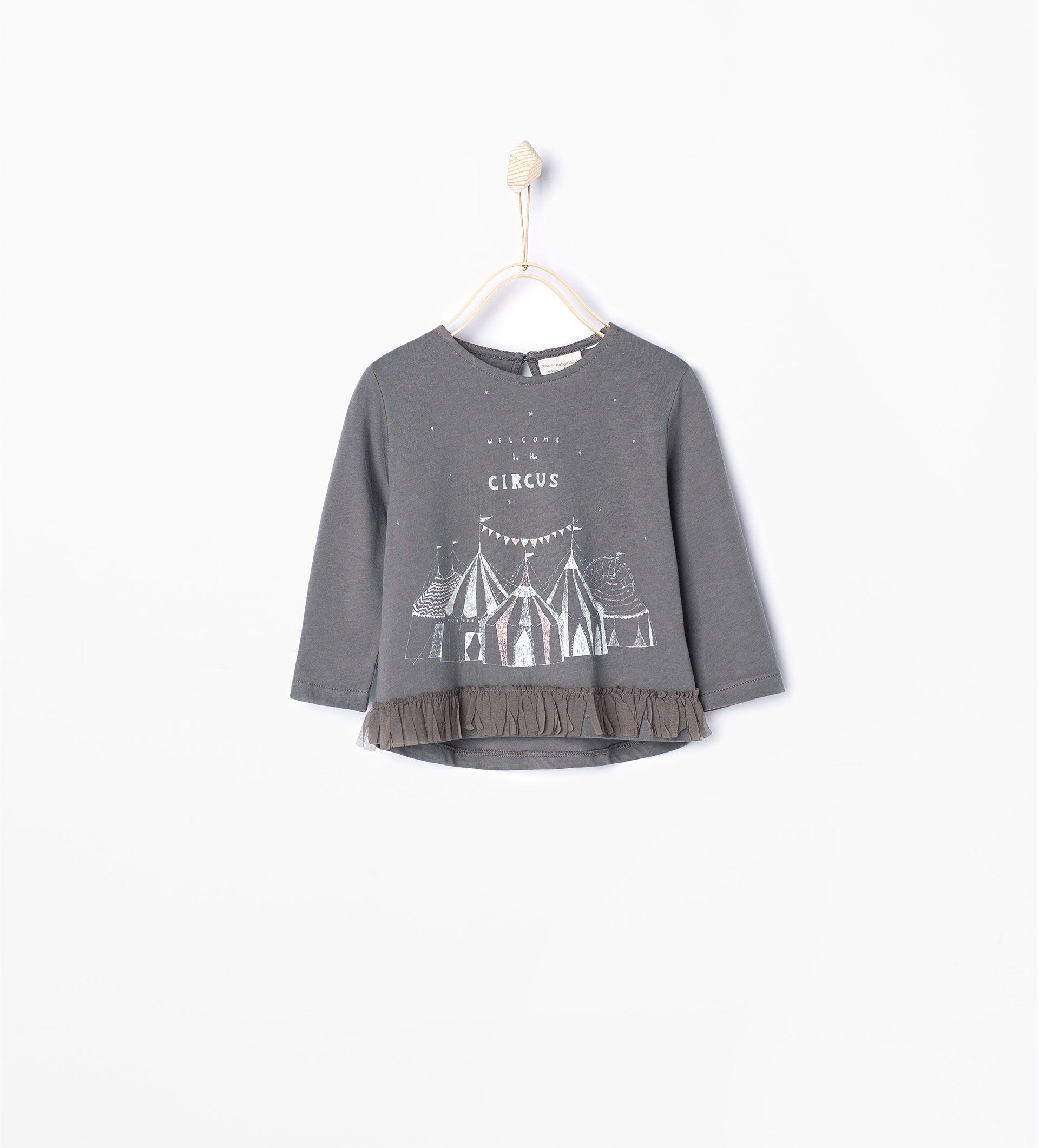 T - shirt circo franjas - Última semana - Bebé menina (3 meses–4 anos) - COLECÇÃO AW15   ZARA Portugal