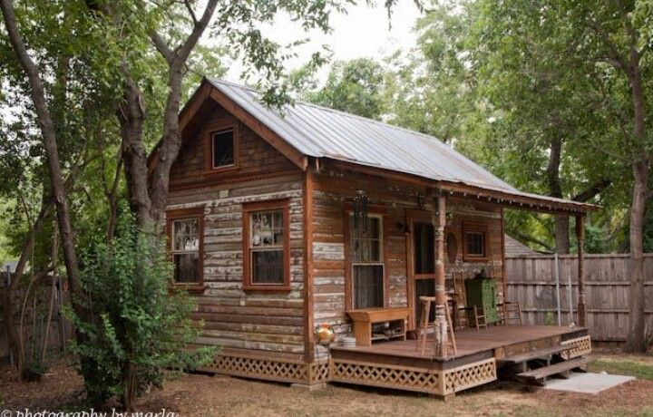 Cute Small Rustic Cabin Tiny Texas Houses Tiny House Cabin
