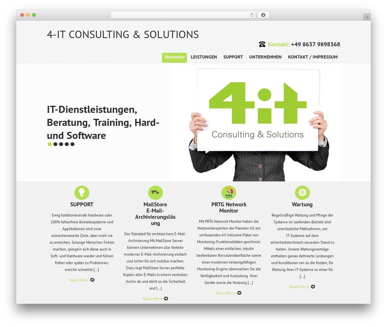 Wp Theme Skt It Consultant 4 It Net Wp Themes Theme