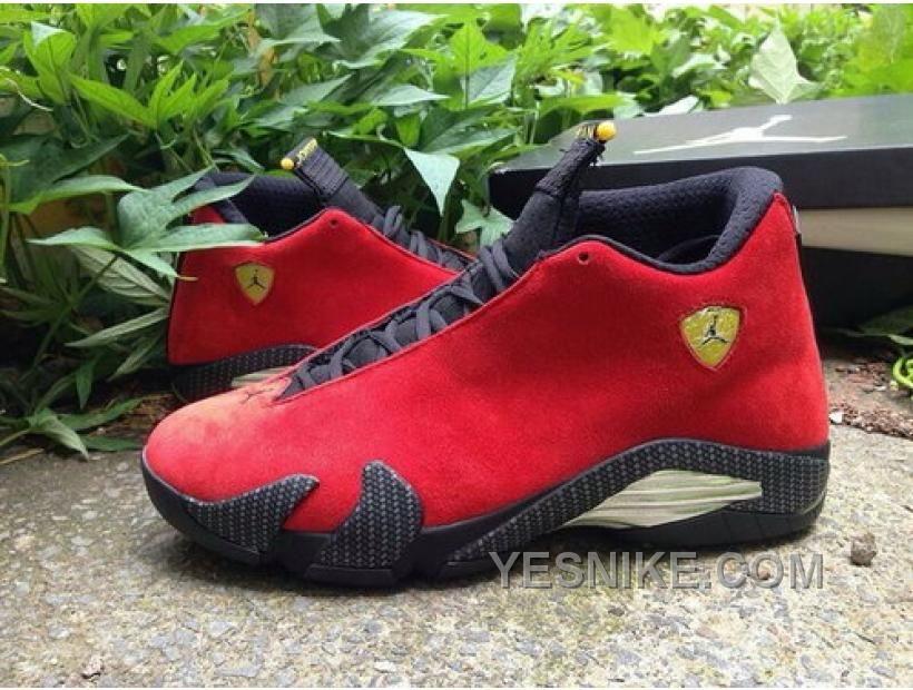 Big Discount 66 OFF Sale Nike Air Jordan Xiv 14 Retro Mens Shoes Ferrari Chinese Red Black FsSYy