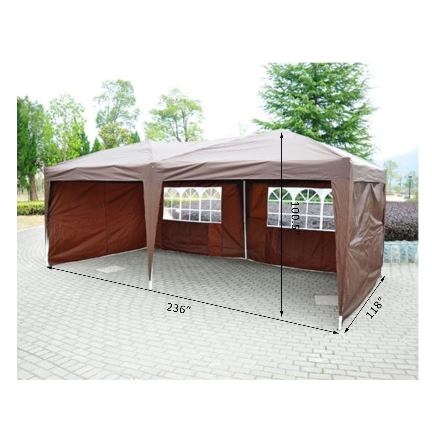 Outsunny Coffee Brown 10 Pop up canopy tent, Canopy tent