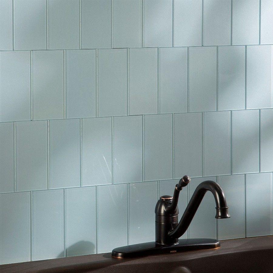 Shop Aspect Glass 3-in x 6-in Glacier Backsplash at Lowes.com | New ...