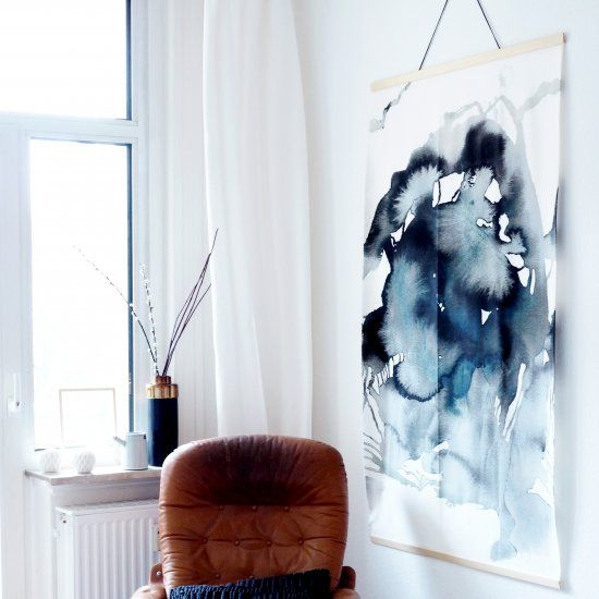 Create This Giant Aquarelle Wall Hanging No Brush And Color