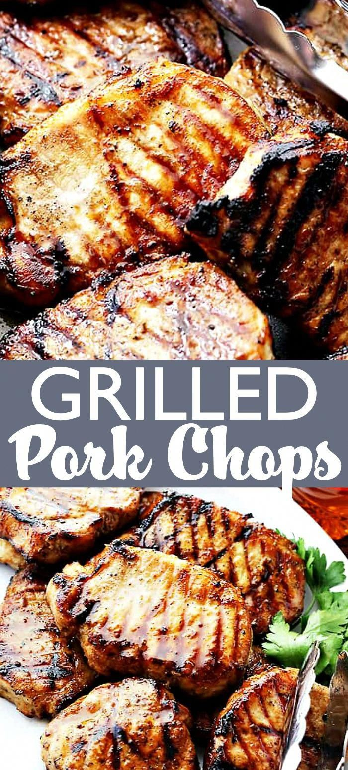 Honey Soy Grilled Pork Chops - Incredibly juicy pork chops grilled to perfection! #grilling #campingfood #porkchops #porkchoprecipes #grilledporkchops