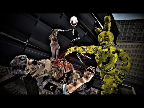 Gmod Five Nights at Freddy's 3 I am Springtrap & Puppet VS