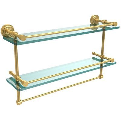 "Allied Brass Dottingham 22"" W Bathroom Shelf Finish: Polished Brass"